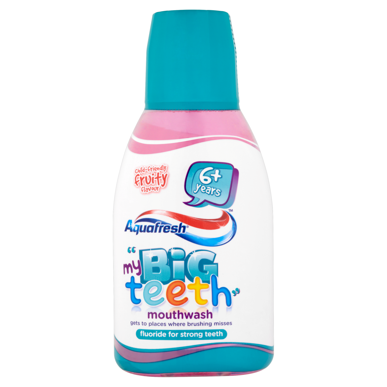 Aquafresh Big Teeth Mouthwash Mild Taste 300ml
