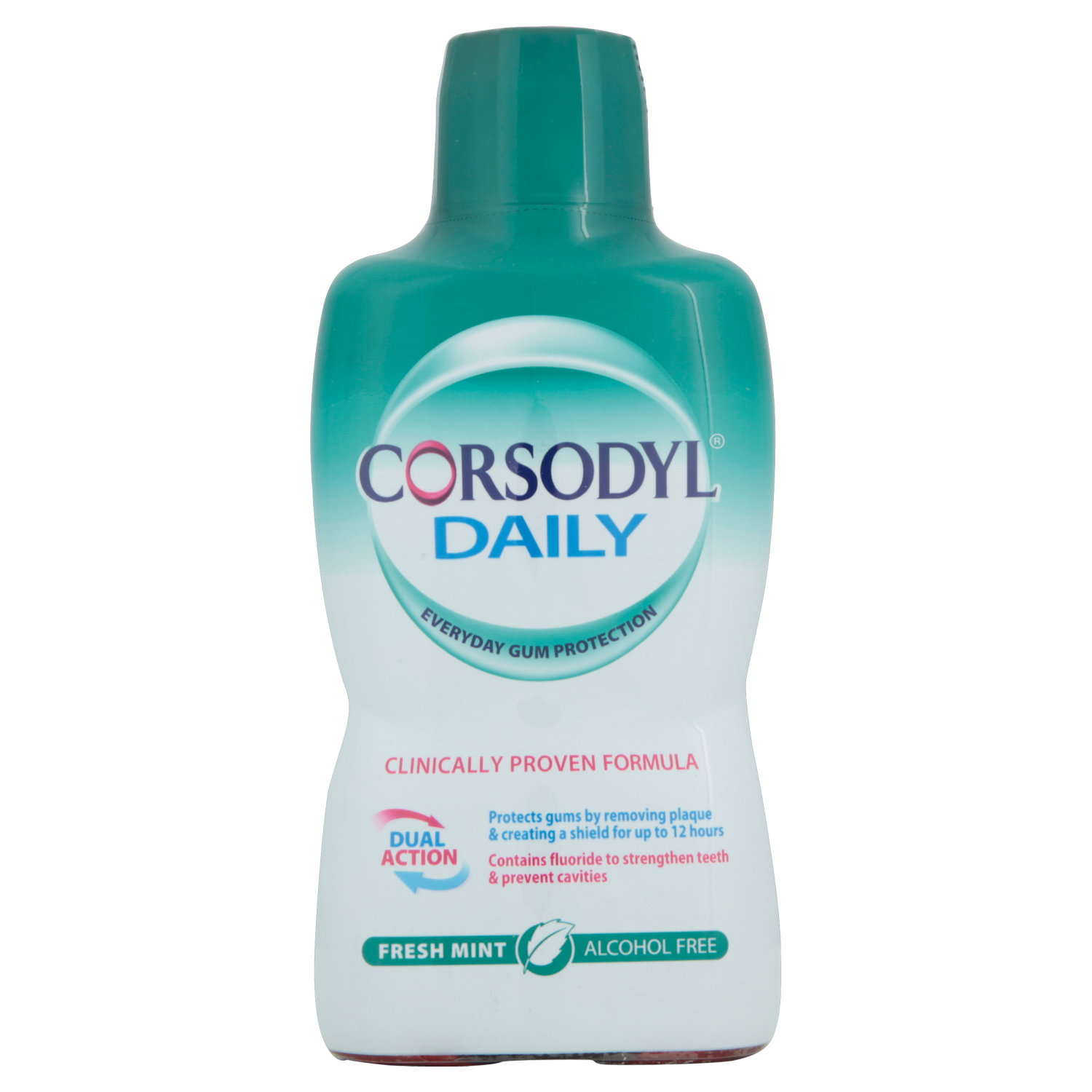Corsodyl Daily Mouthwash Freshmint Alcohol Free x 500ml