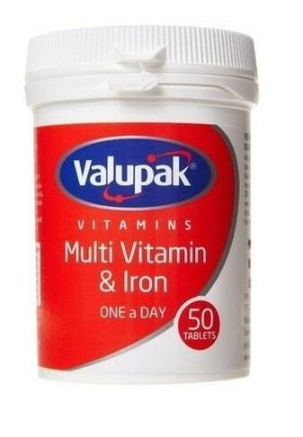 Valupak Multi Vitamin & Iron One A Day 50 Tablets
