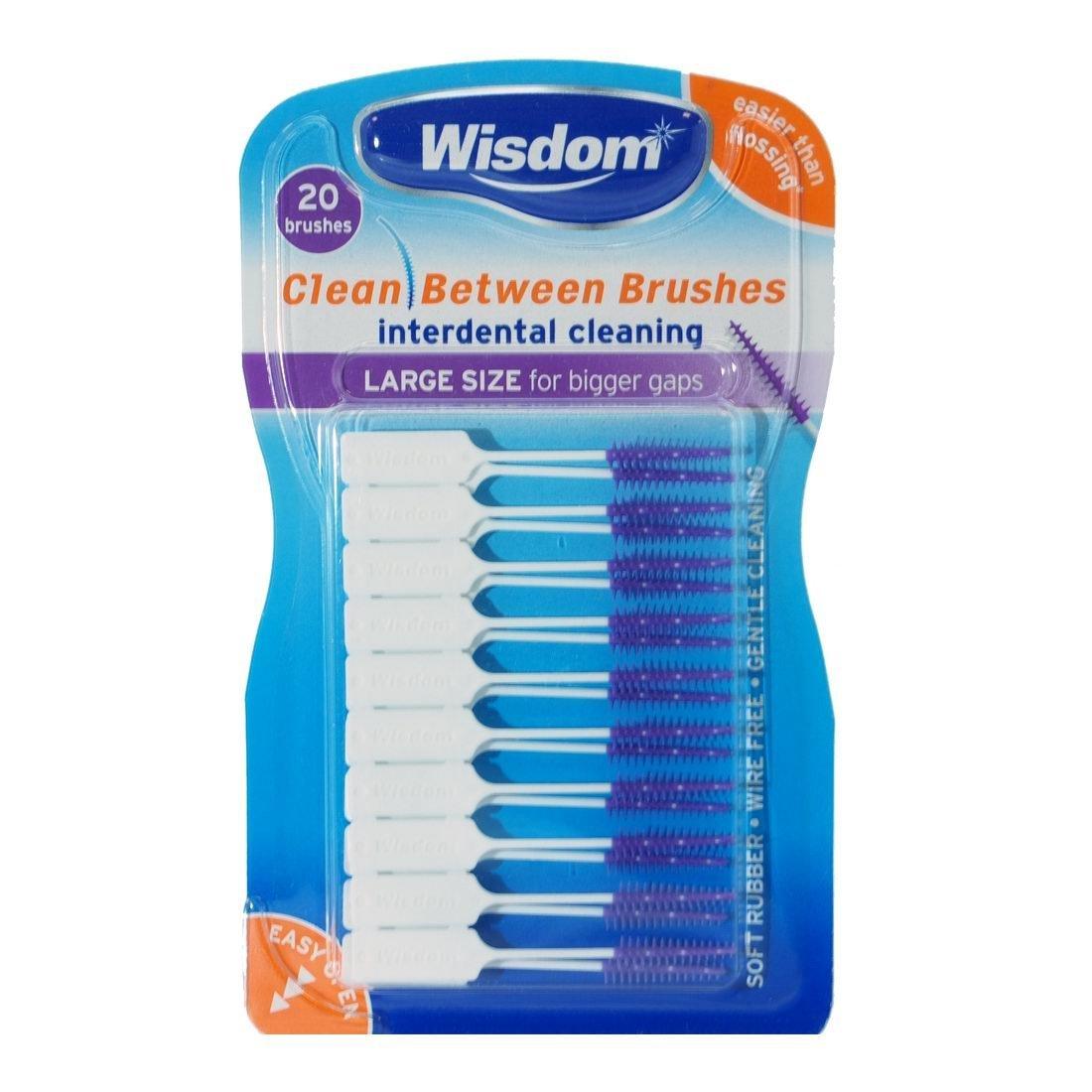 Wisdom Clean Between Brushes Interdent Large (Purple)