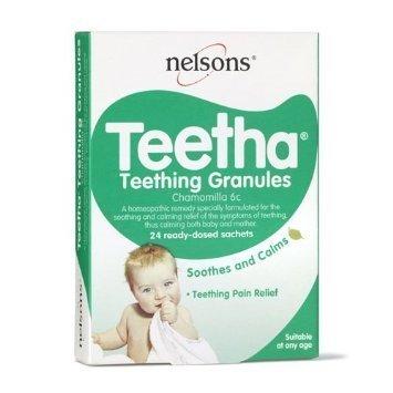 Nelsons Teetha Teething Granules x 24 Sachets