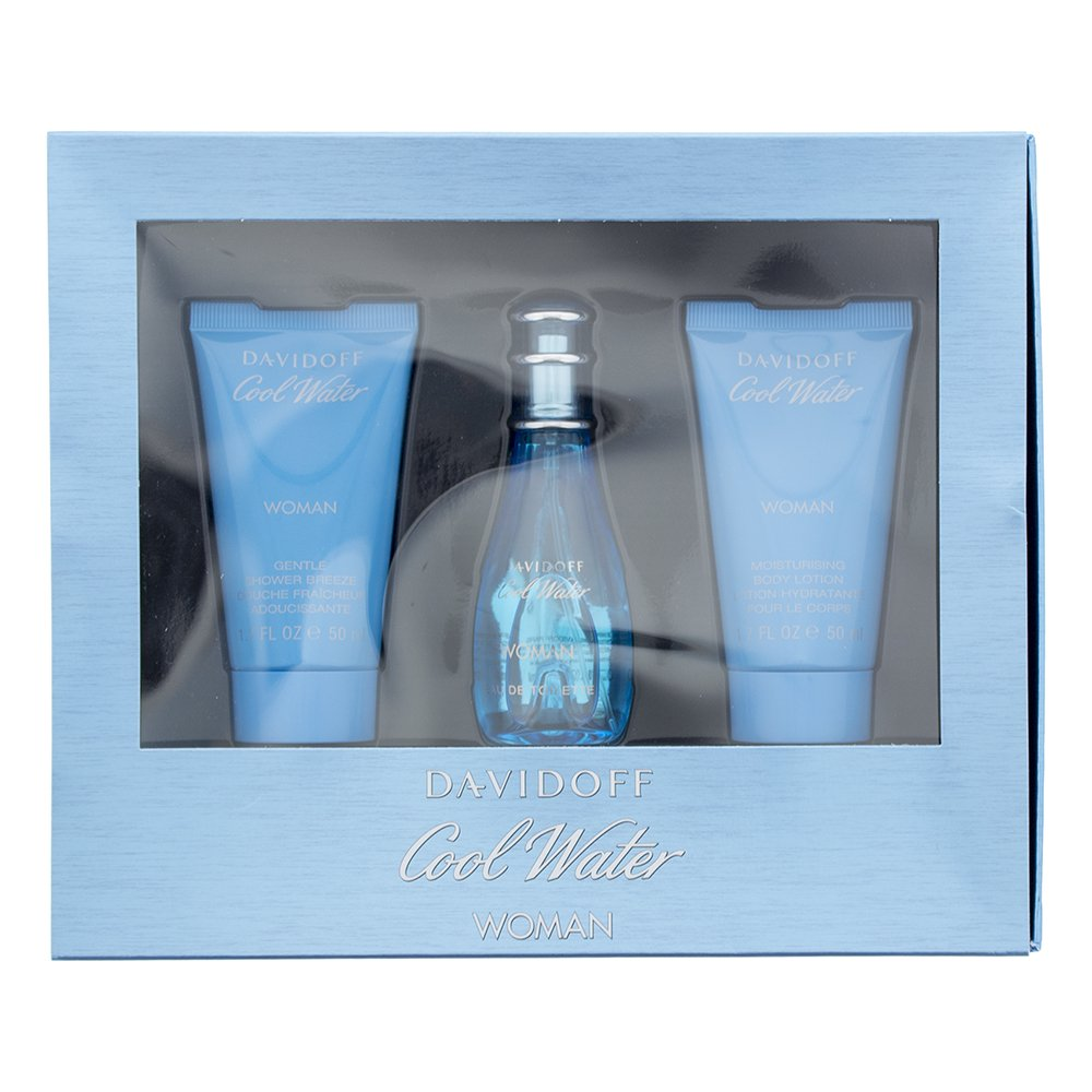 Cool Water F Eau de Toilette 30ml - Body Lotion 50ml - Shower Gel 50ml