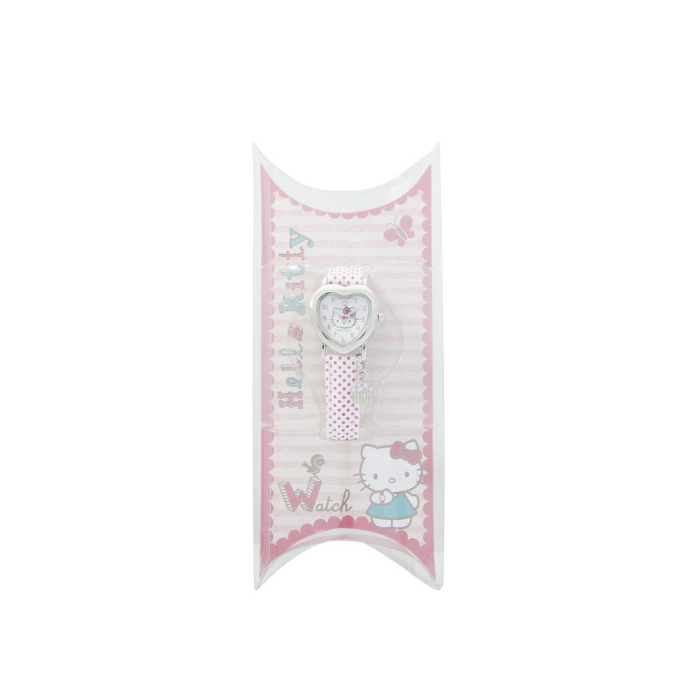 Hello Kitty Watch Pink Spotted Strap Heart Sh