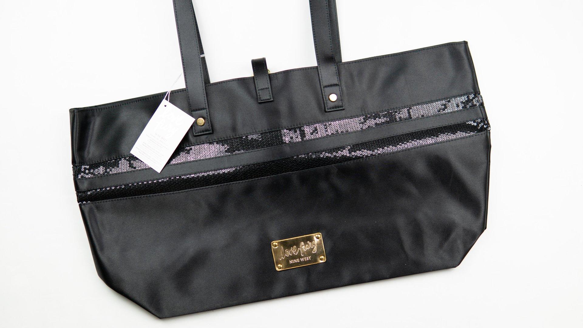 Nine West Love Fury Tote Bag Black