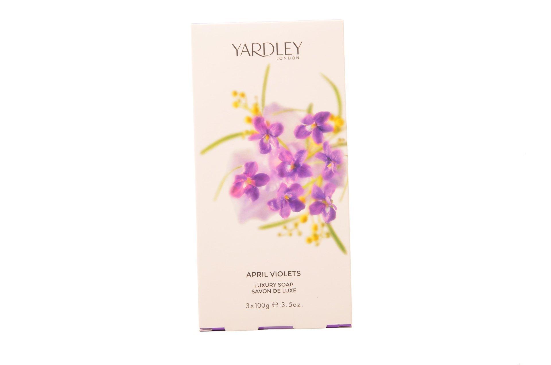 April Violets 3 X 100g Soap