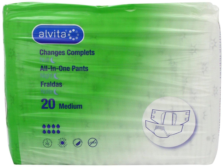 Alvita Incontinence Adult Nappies Night Medium - 20 Pack