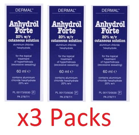 Anhydrol Forte Roll-on 20% Triple Pack (3 x 60ml)