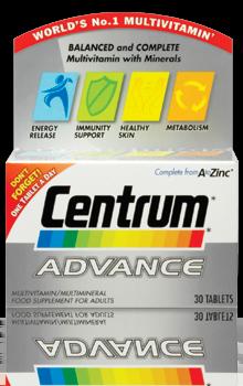 Centrum Advance Multivitamin x 30 Tablets