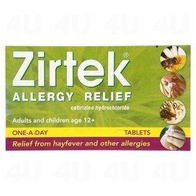 Zirtek Allergy tablets 30 Tabs