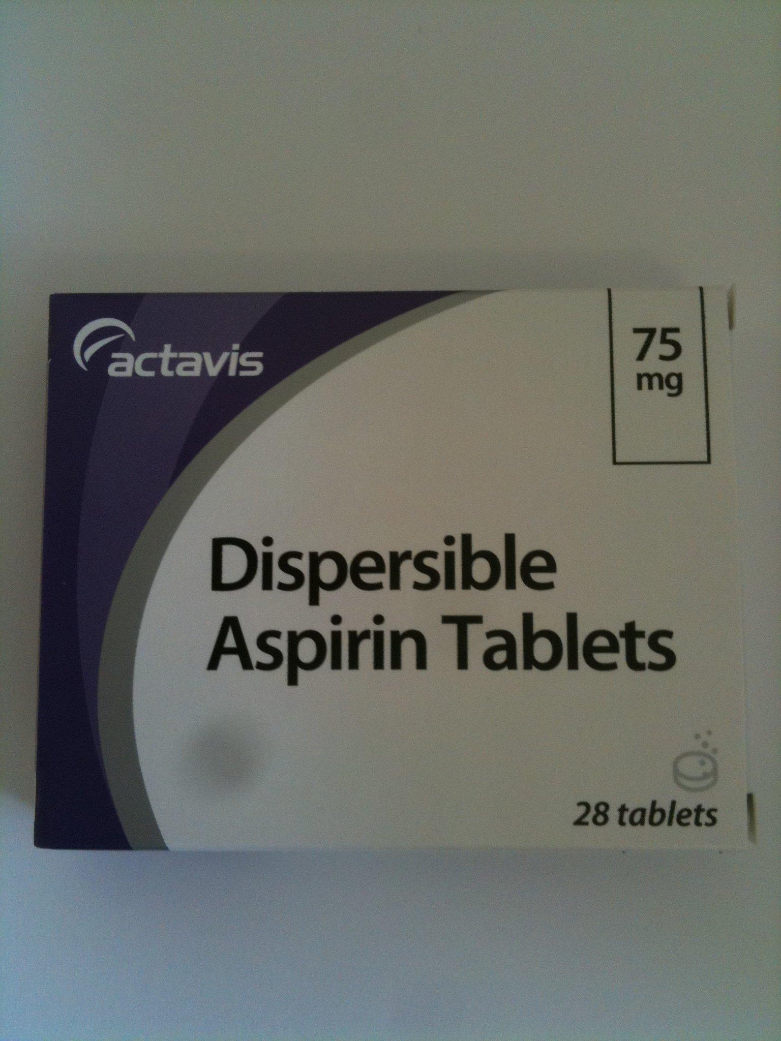 Aspirin Dispersible 75mg (Low Dose)