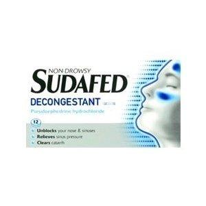 Sudafed Decongestant Tablets 60mg X 12