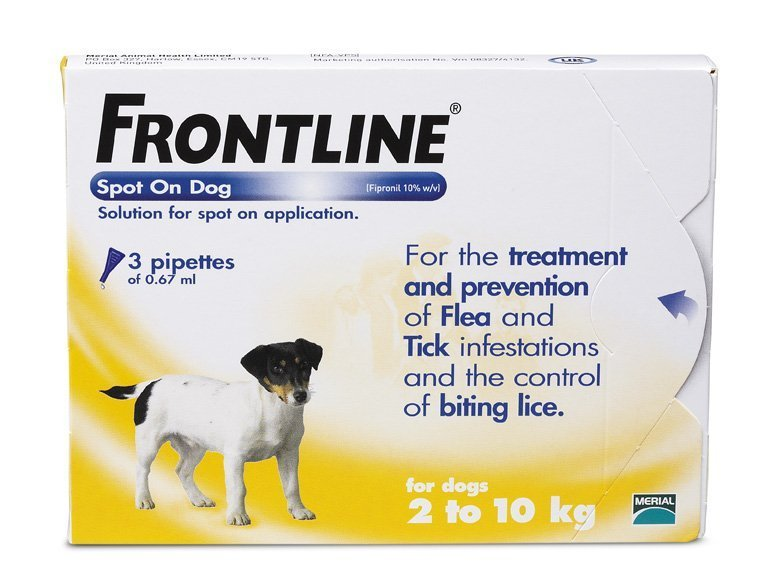 Frontline Spot On Dog Small x 3