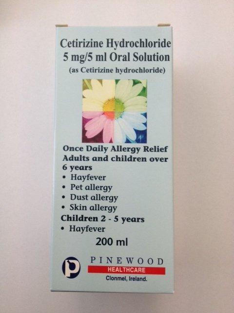Allergy/Hayfever 5mg/5ml Oral Solution - 200ml