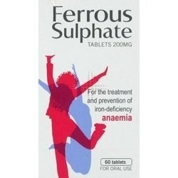 Ferrous Sulphate Tablets 200mg X 60 Tablets