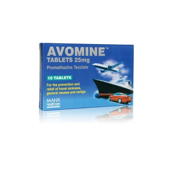 Avomine 25mg tablets x 10