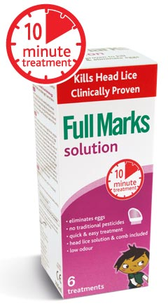 Full Marks Solution x 300ml + Removal Comb