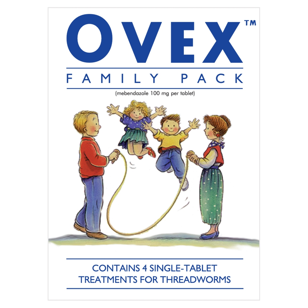 Ovex Threadworm Tablet Family Pack