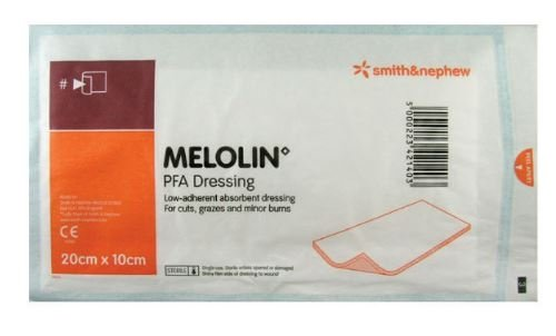 Melolin 20 x 10 low-adherent absorbent dressing x 100