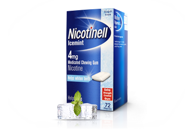 Nicotinell Ice Mint Gum 4mg 72 pieces x 3
