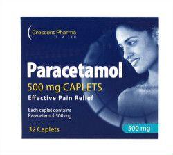 Paracetamol Caplets or Tablets 500mg - Pack of 30