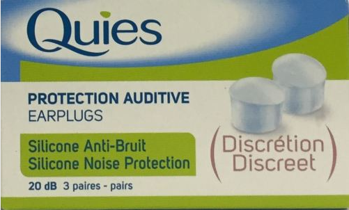 Quies Clear Silicone Earplugs