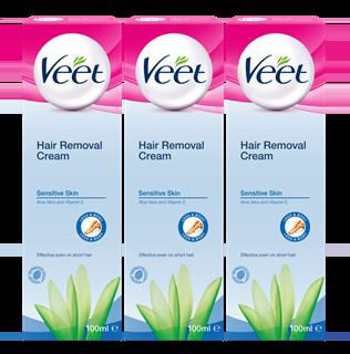 Veet 5 Minute Sensitive Hair Removal Cream 100ml x 3